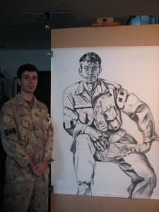 Capt Pitkin during sittings 2009 post Afghanistan